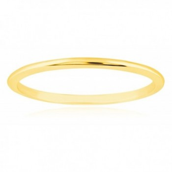 1mm Thin 14k Yellow Gold Wedding Band Ring - CV188U2A3R4