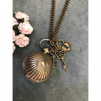 Vintage Bronze Quartz Locket Necklace