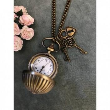 Vintage Bronze Quartz Locket Necklace in Women's Chain Necklaces