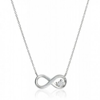 """Disney Sterling Silver """"Laughter Is Timeless Dreams Are Forever"""" Pendant Necklace- 18"""" - CD11VS89R8L"""