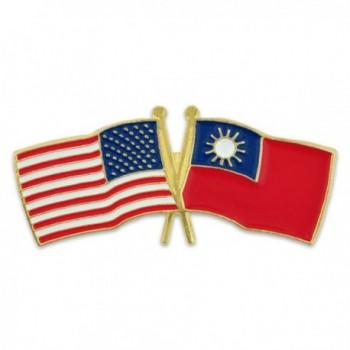 PinMart's USA and Taiwan Crossed Friendship Flag Enamel Lapel Pin - C3110WJR7GV