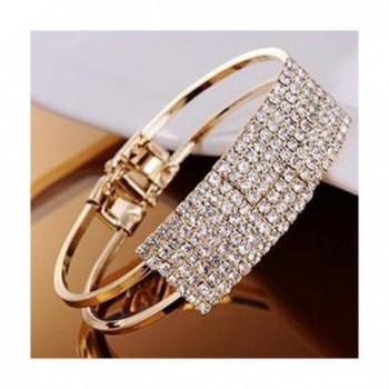 DATEWORK Fashion Lady Elegant Bangle Wristband Bracelet Crystal Cuff Bling Valentine's day Gift - C012CFWSZQ3