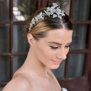 EVER FAITH Butterfly Headband Silver Tone