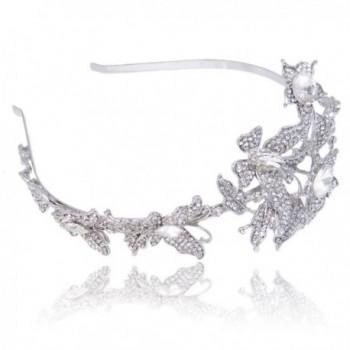 EVER FAITH Butterfly Headband Silver Tone in Women's Charms & Charm Bracelets