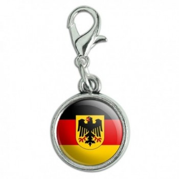 Antiqued Bracelet Pendant Lobster National - Germany with Crest National Country Flag - CH12MZYYNZ1