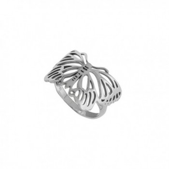 Boma Sterling Silver Cut Out Butterfly Ring - C511NY5NW4L