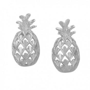 Sterling Silver Pineapple Stud Earrings - C01152JJ6WJ