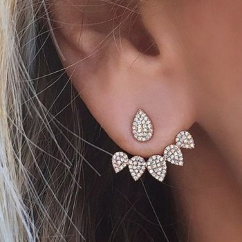 Crawler Earrings Climber Chandelier Rhinestone in Women's Stud Earrings