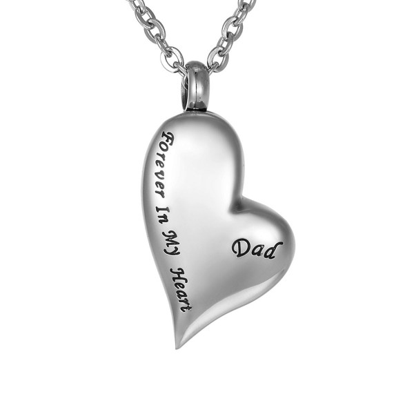 Cremation Irregular Memorial Necklace Keepsake - Dad - C212D7MJYCT