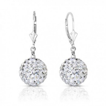Sterling Silver Dangle Crystal Ball Drop Earrings (14MM) - CD17YQAH6CK