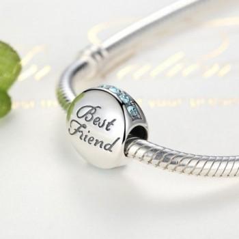 Sterling Silver Friendship European Bracelets in Women's Charms & Charm Bracelets