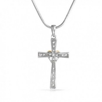 Pendant Rhodium Plated Necklace Inches in Women's Chain Necklaces