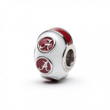 University Alabama Stainless Crimson Bracelets - CA127Q49IN9