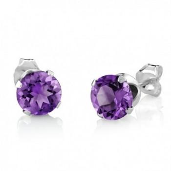 Amethyst Sterling Silver Earrings Pendant in Women's Jewelry Sets