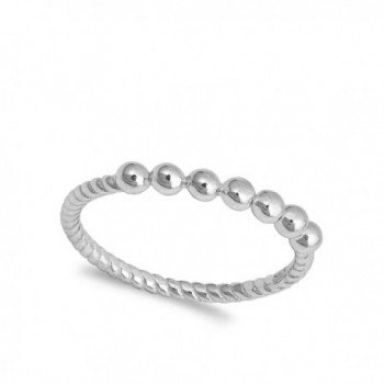 Ball Stackable Sterling Silver Twist
