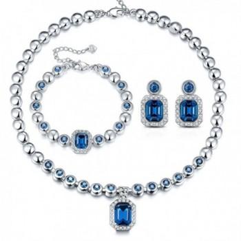 "T400 Jewelers ""Love in Danube"" Vintage Elegant Jewelry Set-Made with Swarovski Crystals- Love Gift - C611W73GTG9"