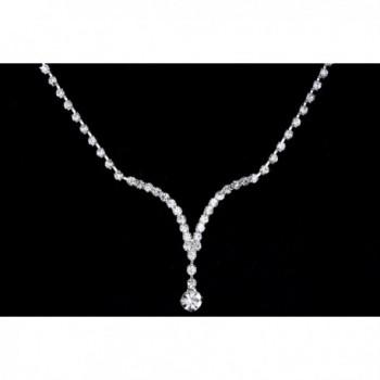 Wedding Bridesmaid Rhinestone Necklace Earrings