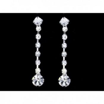 Wedding Bridesmaid Rhinestone Necklace Earrings in Women's Jewelry Sets