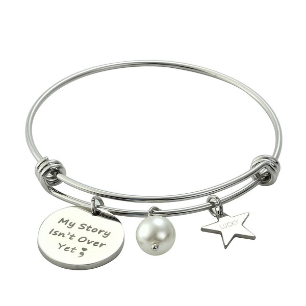 Meibai Semicolon Expandable Bracelet Inspirational - My Story Isn't Over Yet - CW183N42TO5