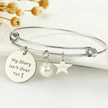 Meibai Semicolon Expandable Bracelet Inspirational in Women's Bangle Bracelets