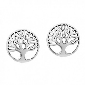 Artistic 'Tree of Life' .925 Sterling Silver Stud Earrings - CI11ISGS77N