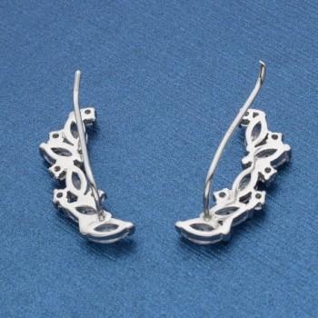 EVER FAITH Sterling Zirconia Earrings in Women's Cuffs & Wraps Earrings