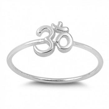 Sterling Silver Om Sign Ring - CJ11Y23EAQ7