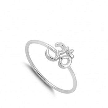 Thin Simple Fashion Sterling Silver in Women's Band Rings