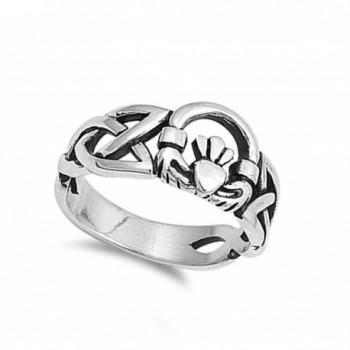 Celtic Trinity Claddagh Sterling Silver