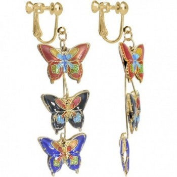 Body Candy Handcrafted Butterfly Kaleidoscope Clip On Earrings - CC11MBFLHVP