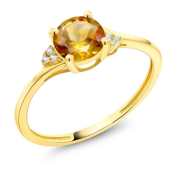 Yellow Diamond Accent Engagement Citrine - CU182OHOM2Y
