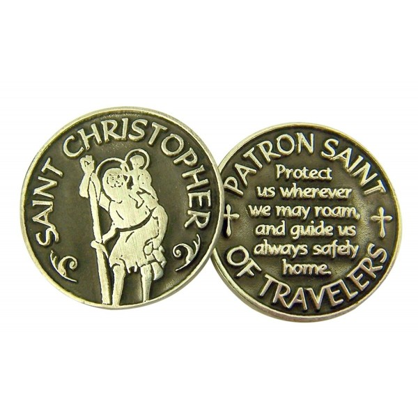 Silver and Black Tone Devotional Prayer Token- 1 1/8 Inch - CR116R1E9JB