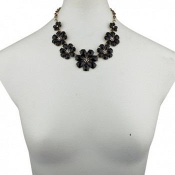 Lux Accessories Crystal Statement Necklace