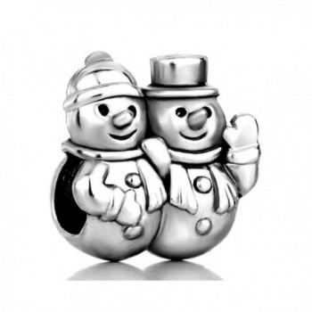 Christmas Gifts Snowman Winter Charm New Sale Cheap Beads Fit Pandora Charms Bracelets - C1127VM6U3H