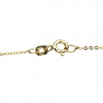 Gold Flashed Sterling Necklace Simulated Swarovski