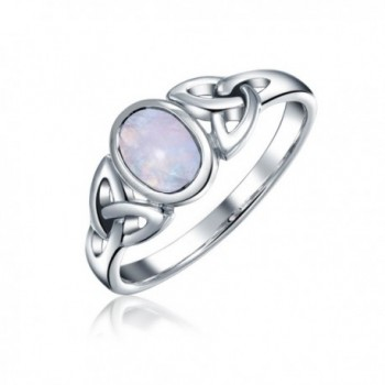 Bling Jewelry Celtic Moonstone Triquetra Knot Sterling Silver Ring - CN116RFRQLP