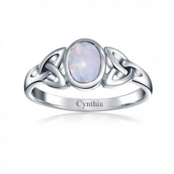 Bling Jewelry Moonstone Triquetra Sterling