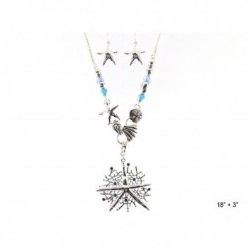 Hammered Starfish Silver tone Jewelry Nexus