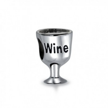 Bling Jewelry 925 Silver Wine Lover Wine Glass Bead Charms - CC115XG500X