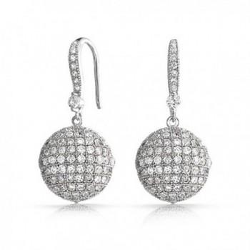 Bling Jewelry Zirconia Earrings Rhodium