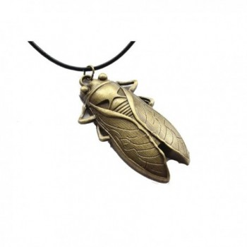 Cicada Necklace Grasshopper Steampunk Pendant in Women's Lockets