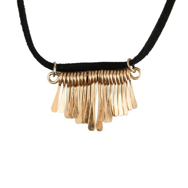 Double Layer Necklace Velvet Choker Fringe Pendant 90's Choker Punk Collar Necklace for Women - Black - CM12O80V9O4
