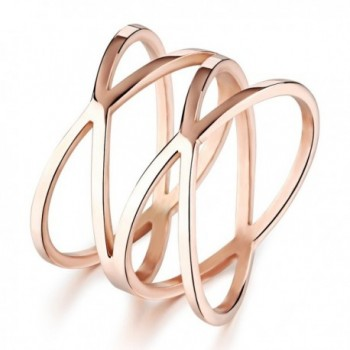 LOVE Beauties Women's Rose Gold Titanium Wedding Band Ring (Size Selectable) - CC1237H4ISJ