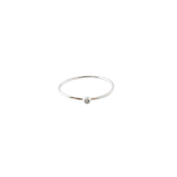 HONEYCAT Bezel Solitaire Ring in Gold- Rose Gold- or Silver | Minimalist- Delicate Jewelry - Silver - CR185L5CSQL
