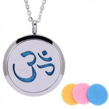 31 Inch Essential Oil Diffuser Necklace Stainless Steel Aromatherapy Perfume Hollow-out Locket Necklace - CB12N5PXGAN