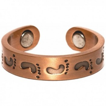 Copper Foot Prints - Magnetic Therapy Ring - CI1194VXBEF