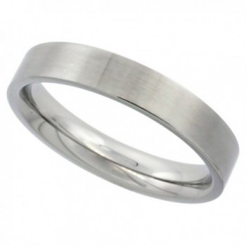 Surgical Stainless Steel 4mm Wedding Band Thumb Ring Comfort-Fit Matte Finish- sizes 5 - 12 - C7117UJH02H