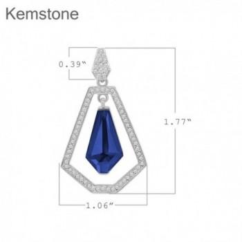 Kemstone Hollow Out Sapphire Earrings Geometry in Women's Drop & Dangle Earrings