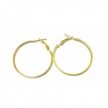 1.5 inch Hoop Earrings Gold or Silver tone Hoop Earrings - C412G0J1SI9