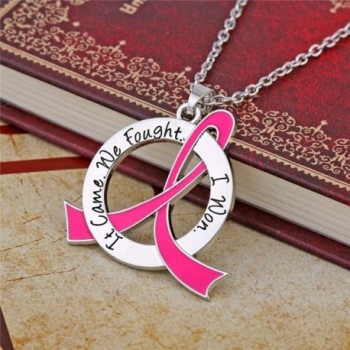 Fought Breast Cancer Survivor Necklace in Women's Pendants